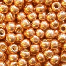 Toho 6/0 Seed Beads Permanent Finish Galvanised Rose Gold PF551 - 10 grams